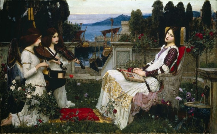 Waterhouse-_John_William_-_Saint_Cecilia_-_1895_